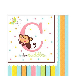 Fisher-Price ABC Baby Shower Lunch Napkins 36ct