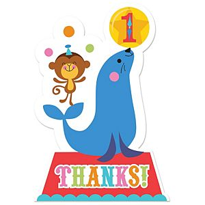 Fisher-Price 1st Birthday Circus Thank You Notes 8ct