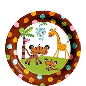 Fisher-Price Jungle Baby Shower Dessert Plates 8ct