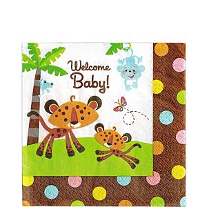 Fisher-Price Jungle Baby Shower Lunch Napkins 16ct