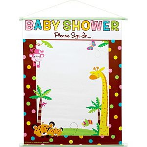 Fisher-Price Jungle Baby Shower Sign-In Sheet