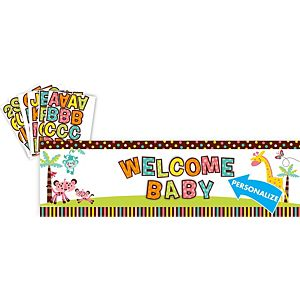 Fisher-Price Jungle Giant Baby Shower Personalized Banner Kit