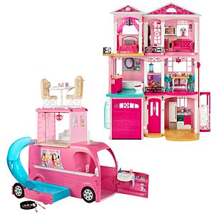 Barbie® Dreamhouse® & Pop Up Camper Gift Set
