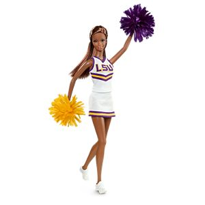 <em>Louisiana State University</em> Barbie&#174; Doll (African American)