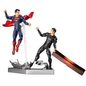 DC Comics™ Man of Steel™ Movie Masters ® Superman™   vs.  General  Zod   Movie Pack