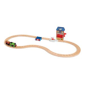 Thomas & Friends™ Wooden Railway Percy & the Mail Depot Set