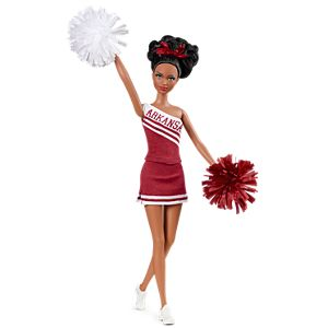 <em>University Of Arkansas</em> Barbie&#174; Doll (African American)