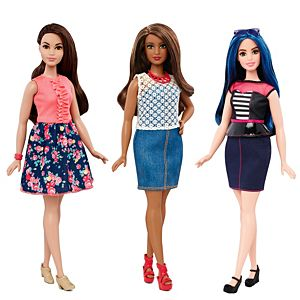 Barbie Fashionistas Curvy Doll 3 Pack Gift Set