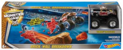 Hot Wheels Monster Jam Brick Wall Breakdown Track Set