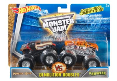 Hot Wheels Monster Jam Demolition Doubles Monster Mutt vs Prowler