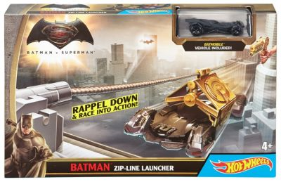 Hot Wheels Batman V Superman Batman ZipLine Launcher