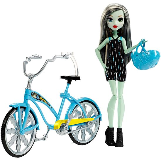 Monster High Frankie Stein Boltin Bicycle Doll