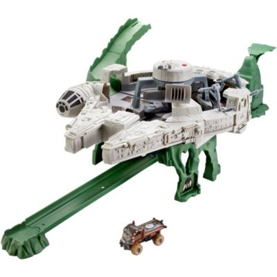 Hot Wheels Star Wars Character Cars Millennium Falcon Track Set