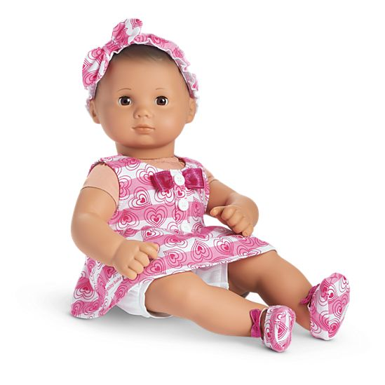 hearts stripes valentines outfit for bitty baby dolls - Baby Valentine