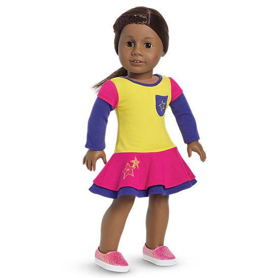 american girl playful color block outfit