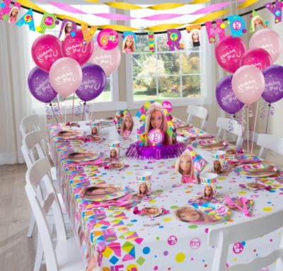 Barbie Barbie Party Supplies Super Party Kit for 8 Guests