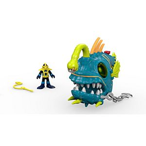 Imaginext ocean toys figures playsets fisher price for Angler fish toy