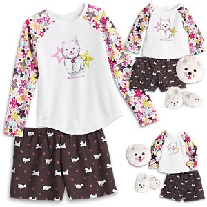 Coconut PJs for WellieWisher Dolls, 18-inch Dolls & Girls