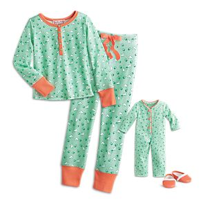 Kit's Puppy Print Pajamas for Dolls & Girls
