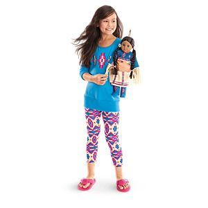 Kaya's Pow-Wow Dress & Blue Patterned Pajamas for Girls and 18-inch Dolls