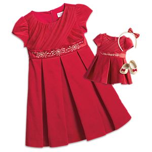 Merry & Bright Party Dress for Bitty Baby Dolls & Little Girls