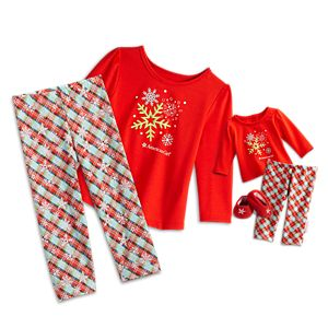 Snowy Dreams PJs for Bitty Baby Dolls & Little Girls
