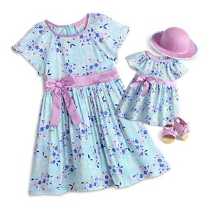 Sweet Spring Dress for Little Girls & Bitty Baby Dolls