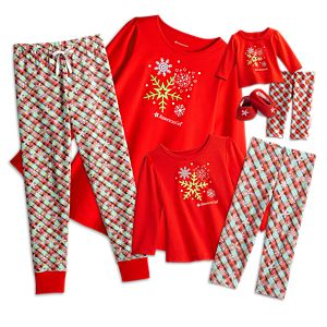 Holiday Pajamas for Women, Little Girls, and Bitty Baby Dolls