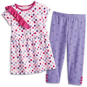 Colorful Dots Outfit for Little Girls