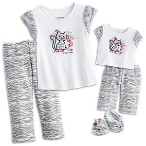 Bitty Kitty PJs for Dolls & Little Girls