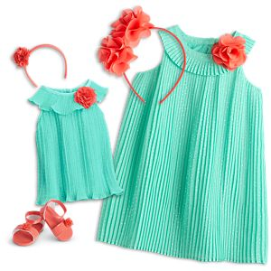 Pleats & Petals Outfit for Bitty Baby® Dolls and Little Girls