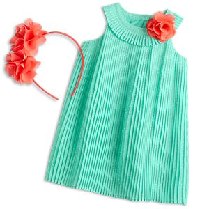 Pleats & Petals Outfit for Little Girls