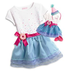 Sweet Sprinkles Birthday Outfit for Bitty Baby Dolls & Little Girls