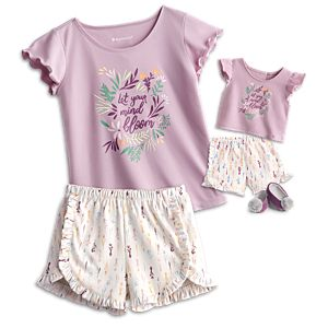 In Bloom PJs for Girls & 18-inch Dolls