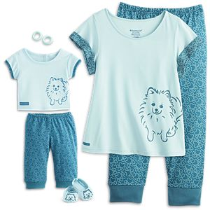 Pomeranian Pajamas for 18-inch Dolls & Girls