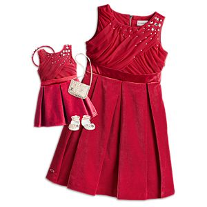 'Tis the Season Party Dress for Girls & 18-inch Dolls