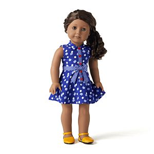 546298f86ef1e Purr-fect Dots Dress & Sunny Sights Flats Outfit for 18-inch Dolls