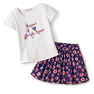 4e761170 Bonjour Fashion Tee & Flower Market Skirt Outfit for Girls