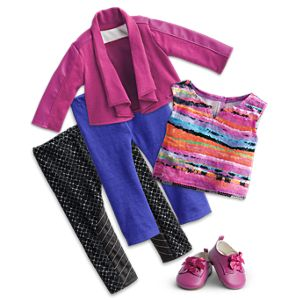City Sights Jacket & Metro Leggings Outfit for 18-inch Dolls