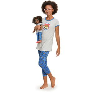 S'more Fun Pajamas for Girls and 18-inch Dolls