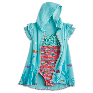 Fun Fish Swimsuit & Cover-Up for Girls