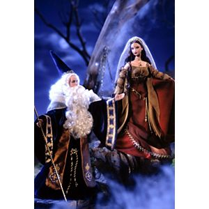 Ken® and Barbie® as Merlin and Morgan Le Fay