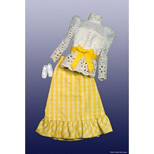 Gingham Peasant Dress #3205