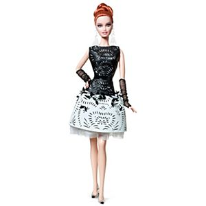 <em>Laser-Leatherette Dress</em> Barbie&#174; Doll