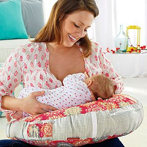 Perfect Position 4-in-1 Nursing Pillow Cover – Pink Hibiscus