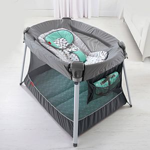 Ultra-Lite Day & Night Play Yard - Coastal Mist