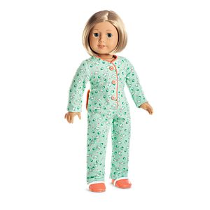 Kit's One-Piece Pajamas for 18-inch Dolls