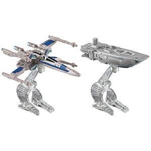 Hot Wheels® Star Wars™: The Force Awakens First Order Transporter vs. X-Wing Fighter Starship 2-Pack