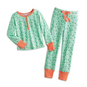 Puppy Print Pajamas for Girls