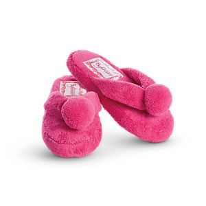 Fuzzy Fuchsia Slippers for Girls